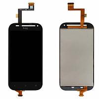 Дисплей (экран) для HTC C520e One SV/C525e/T528t + с сенсором (тачскрином) черный Оригинал