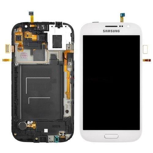 Дисплей (экраны) для Samsung i9082 Galaxy Grand Duos с сенсором (тачскрином) и рамкой белый