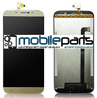 Оригинальный Дисплей (Модуль) + Сенсор (Тачскрин) для S-Tell M555 (Золотой)