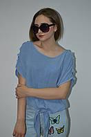 Женская блуза хлопок на завязке Italy, фото 1