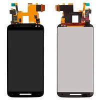Дисплей (экран) для Motorola XT1572 Moto X Style + с сенсором (тачскрином) черный Оригинал