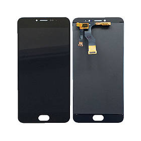 Дисплей (экран) для Meizu M3 Note (M681C) с сенсором (тачскрином) черный