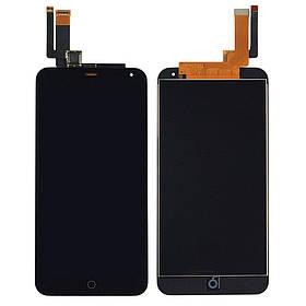 Дисплей (экран) для Meizu M1 Note с сенсором (тачскрином) черный Оригинал