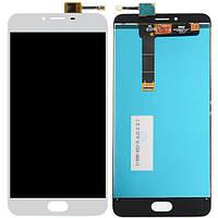 Дисплей (экран) для Meizu U20 + с сенсором (тачскрином) белый Оригинал