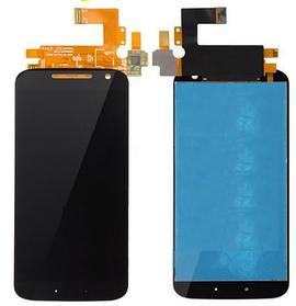 Дисплей (экран) для Motorola XT1626 Moto G4 с сенсором (тачскрином) черный Оригинал