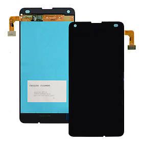 Дисплей (экран) для Microsoft (Nokia) 550 Lumia (RM-1127) с сенсором (тачскрином) черный Оригинал