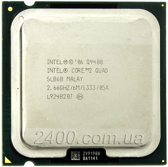 Процессор Intel Core 2 Quad Q9400 2.66GHz/6MB/1333MHz Socket 775