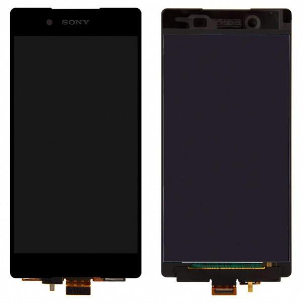 Дисплей (экран) для Sony E6533 Xperia Z3 + Dual с сенсором (тачскрином) черный Оригинал