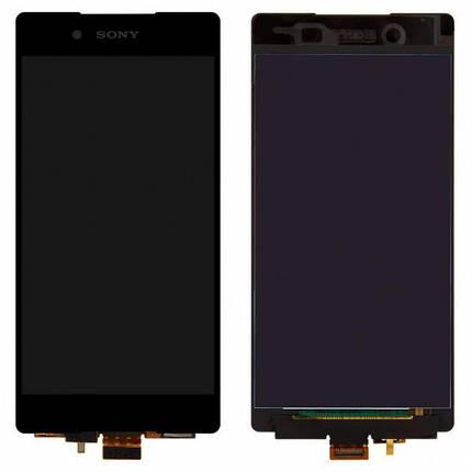 Дисплей (экран) для Sony E6533 Xperia Z3 + Dual с сенсором (тачскрином) черный Оригинал, фото 2
