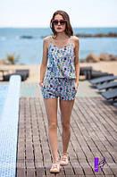 Женский стильный костюм  в  пижамном  стиле  ЮГ1123