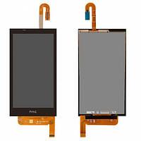 Дисплей (экран) для HTC 610 Desire + с сенсором (тачскрином) черный