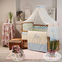 Сменный детский комплект постельного белья Ангел цвет голубой