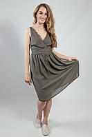 Платье - сарафан серый летний на бретелях коктельное VERO MODA