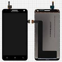 Дисплей (экран) для Lenovo S580 + с сенсором (тачскрином) Black