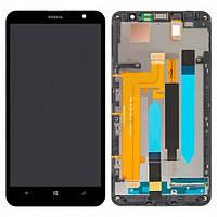 Дисплей (экран) для Nokia Lumia 1320 + с сенсором (тачскрином) и рамкой Black