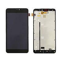 Дисплей (экран) для (Microsoft) Nokia 640 XL Lumia Dual Sim + с сенсором (тачскрином) и рамкой черный