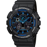 Мужские часы Casio G-Shock GA-100-1A2 Касио противоударные японские кварцевые