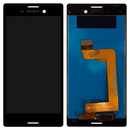 Дисплей для Sony E2303 Xperia M4 Aqua/E2306/E2312/E2333/E2353/E2363 + с сенсором (тачскрином) черный Оригинал, фото 2