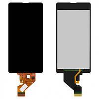 Дисплей (экран) для Sony D5503 Xperia Z1 Compact Mini + с сенсором (тачскрином) черный Оригинал