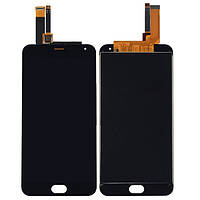 Дисплей (экран) для Meizu M2 /M2 mini + с сенсором (тачскрином) черный Оригинал маленькая микросхема, 5x5 mm