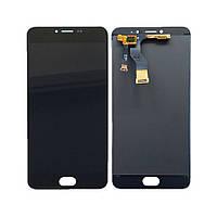 Дисплей (экран) для Meizu M3 Note M681H/M681Q/M681C + с сенсором (тачскрином) шлейф вверх черный Оригинал