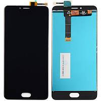 Дисплей (экран) для Meizu U20 + с сенсором (тачскрином) черный Оригинал