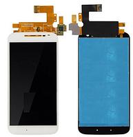 Дисплей (экран) для Motorola XT1622 Moto G4, XT1625 Moto G4 + с сенсором (тачскрином) белый