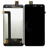 Дисплей (экран) для Fly iQ4512 Quad Eco Chic 4 + с сенсором (тачскрином) черный Оригинал
