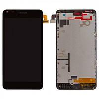 Дисплей (экран) для Microsoft (Nokia) 640 Lumia (RM-1077) + с сенсором (тачскрином) и рамкой черный Оригинал