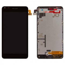 Дисплей (экран) для Microsoft (Nokia) 640 Lumia (RM-1077) с сенсором (тачскрином) и рамкой черный Оригинал