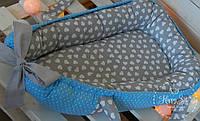 Кокон-позиціонер для новонароджених сіро-голубий 1077