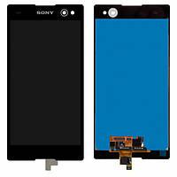 Дисплей (экран) для Sony D2502 Xperia C3 Dual Sim/D2533/S55T/S55U + с сенсором (тачскрином) черный