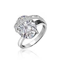 Серебряное кольцо с фианитом КК2Ф/385 - 17,4