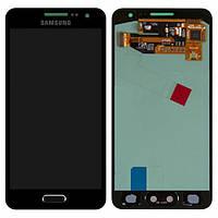 Дисплей (экран) для Samsung A300F Galaxy A3, A300FU/A300H  + с сенсором (тачскрином) Оригинал черный