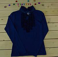 Нарядная блузка Гламур  для девочки на рост 116-158 см