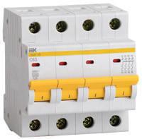 IEK Автоматичний вимикач ВА47-100 4P 16А 10ка х-ка D (MVA40-4-016-D), фото 2