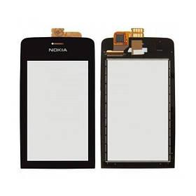 Сенсор (тачскрин) для Nokia 308 Asha/309/310 черный
