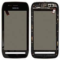 Сенсор (тачскрин) Nokia 603 с передней панелью Black