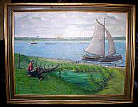 """Картина """"Рыбак на берегу"""""""