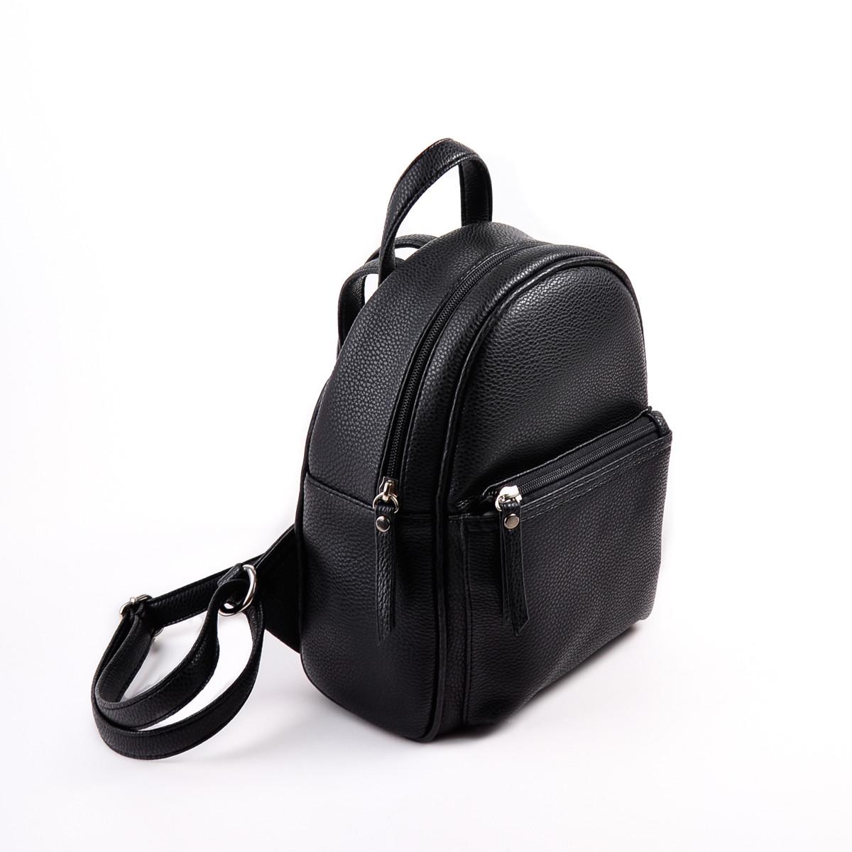 dbe5e54c4195 Купить женский черный рюкзак М124-47 в интернет-магазине «Камелия»