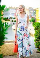 Летнее платье с кружевом цветочное лето