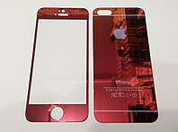 Защитное стекло переднее и заднее черное для iPhone 5/5s