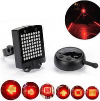 Вело-габарит поворотный 64 LED с лазерными дорожками и с беспроводным пультом Д/У LEADBIKE A112 (USB)