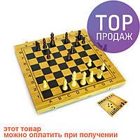 Нарды+шахматы из бамбука (35х17х4,5 см) / Настольные игры