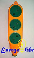 Удлинитель ударостойкий / Колодка 2х сторонняя 3гн на 3гн б/з латунь