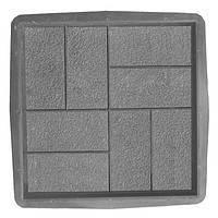 Формы для тротуарной плитки квадрат «Восемь кирпичей-Паркет» заказ от 50 штук, фото 1