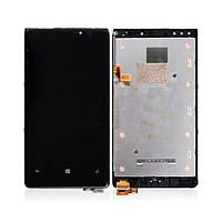 Дисплей (экран) для Nokia 920 Lumia + с сенсором (тачскрином) и рамкой черный