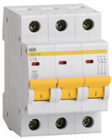 IEK Автоматический выключатель ВА47-29М 3P 16A 4,5кА х-ка D (MVA21-3-016-D)