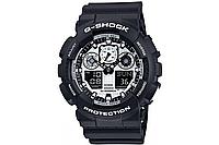 Мужские часы Casio G-Shock GA-100BW-1AER Касио противоударные японские кварцевые