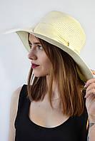 Широкополая шляпа Сардиния молочная
